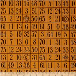 Sew Scary Number Grid Orange