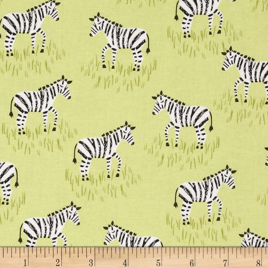 Michael Miller Zebras Mini Citron