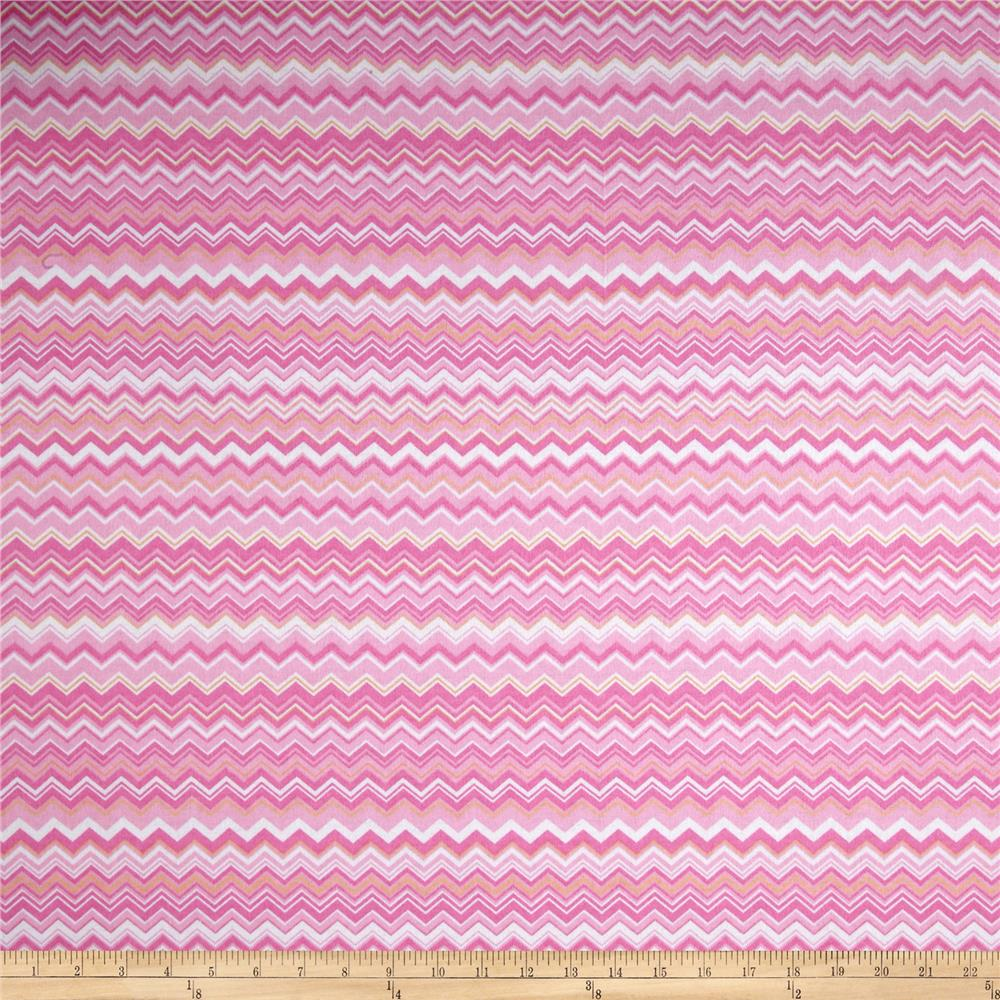 Chevron Flannel Pink/Yellow