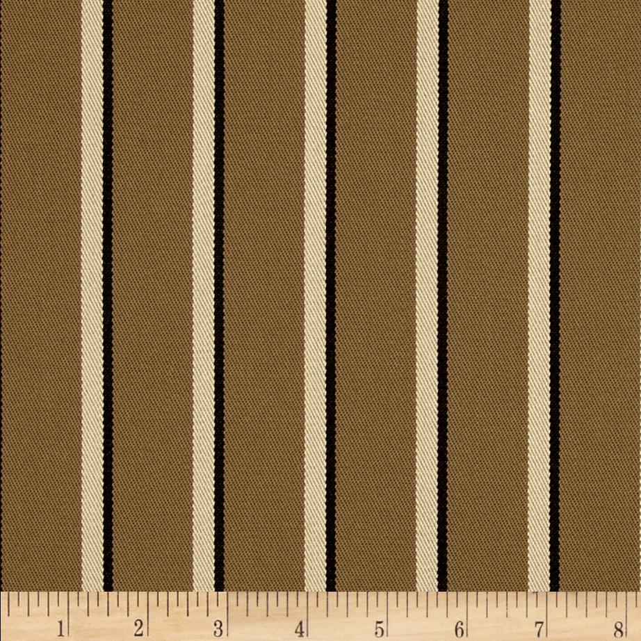 Sunbrella Outdoor Harwood Stripe Cocoa
