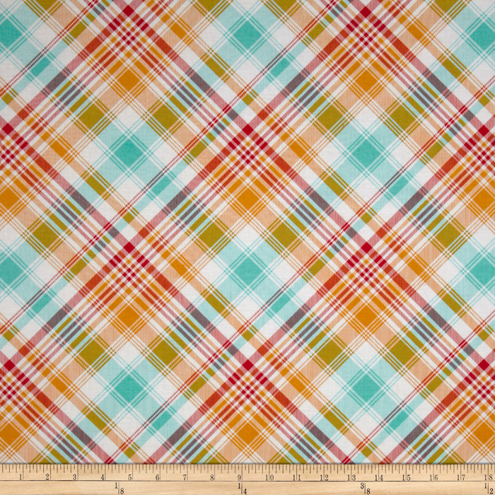 Joel Dewberry Notting Hill Tartan Poppy Fabric