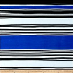 Stretch ITY Jersey Knit Emma Stripe Royal