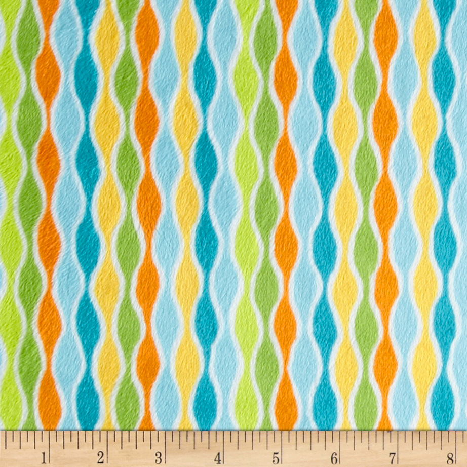 Minky Cuddle Izzy Stripe Topaz Fabric