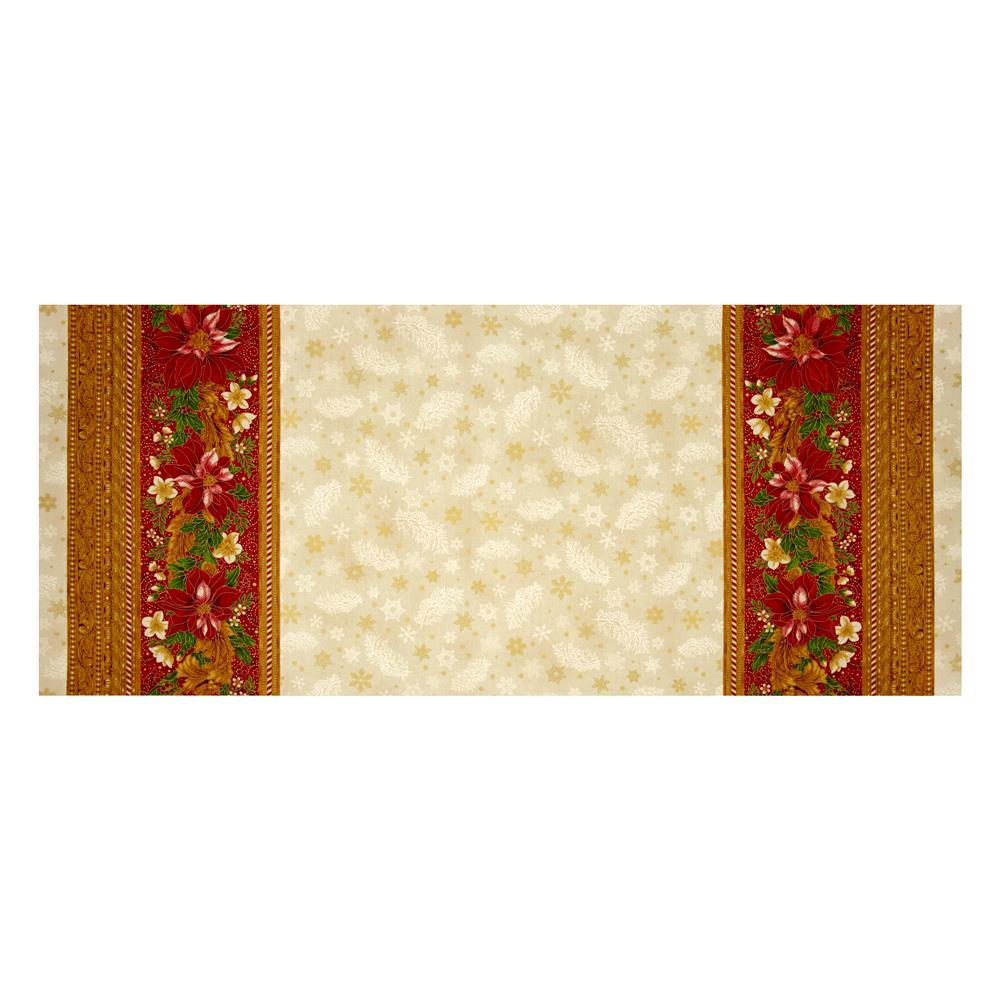 "Kaufman Holiday Flourish Metallic 60"" Wide Double Border Holiday"