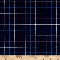 Robert Kaufman Indigo Plaid Shirting Red