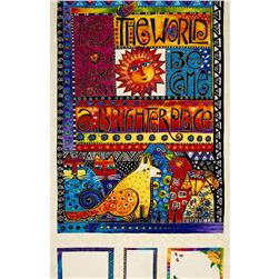 Laurel Burch Laurel Land 24 In. Panel Multi Bright