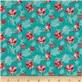 Grace Floral Turquoise