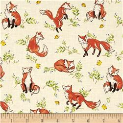 Forest Frolics Foxes Light Beige