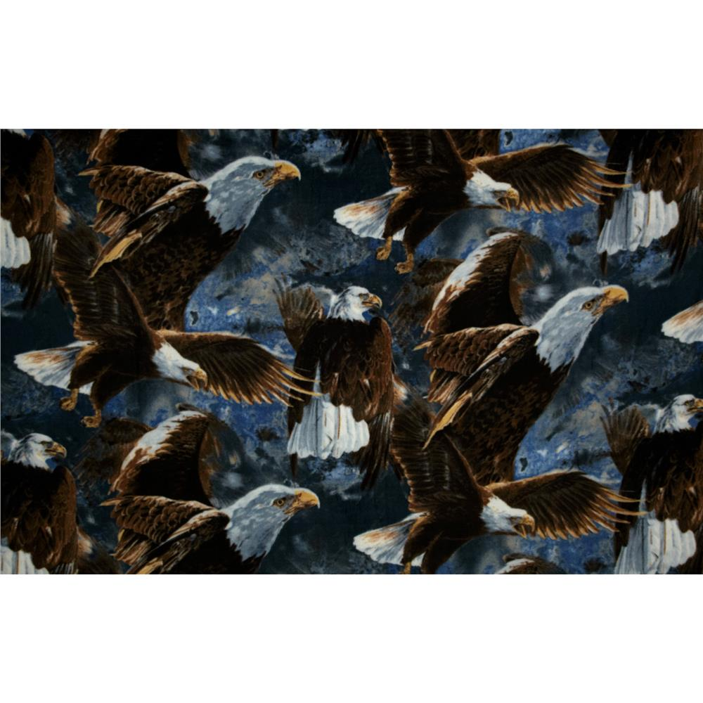 Into the Wild Fleece Bald Eagles Brown/Blue