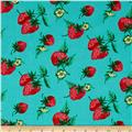 Verna Mosquera Fruta y Flor Strawberry Patch Aqua