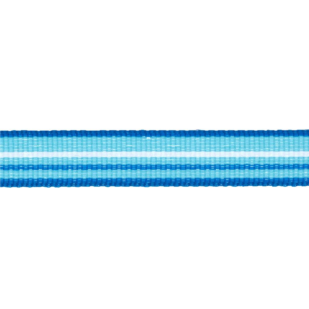 "1/2"" Twill Tape Stripes Blue/Turquoise/White"