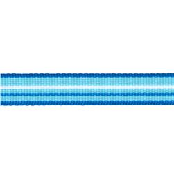 1/2'' Twill Tape Stripes Blue/Turquoise/White