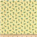 Moda Prints Charming Plaid Floral Cream/Teal