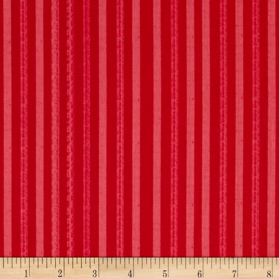Happy Holidays Texture Stripe Red