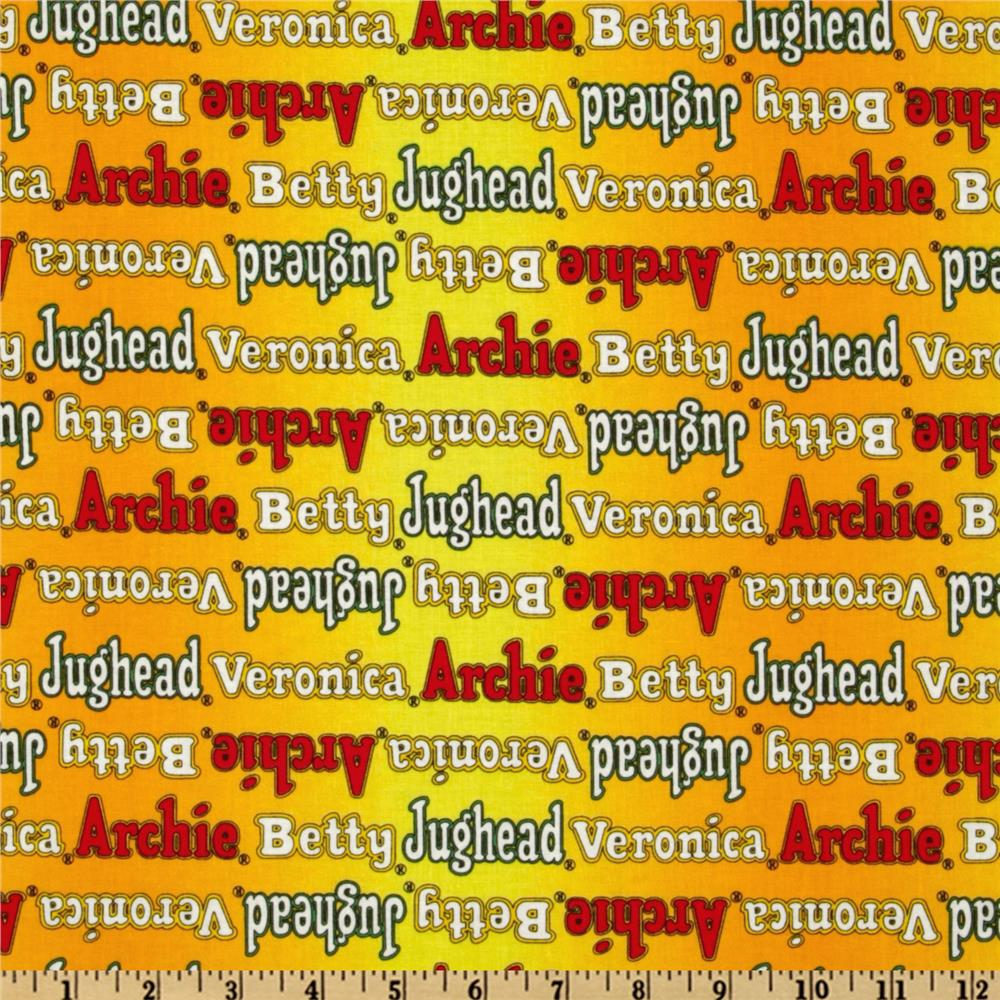 Archie Comics Logo Names Yellow