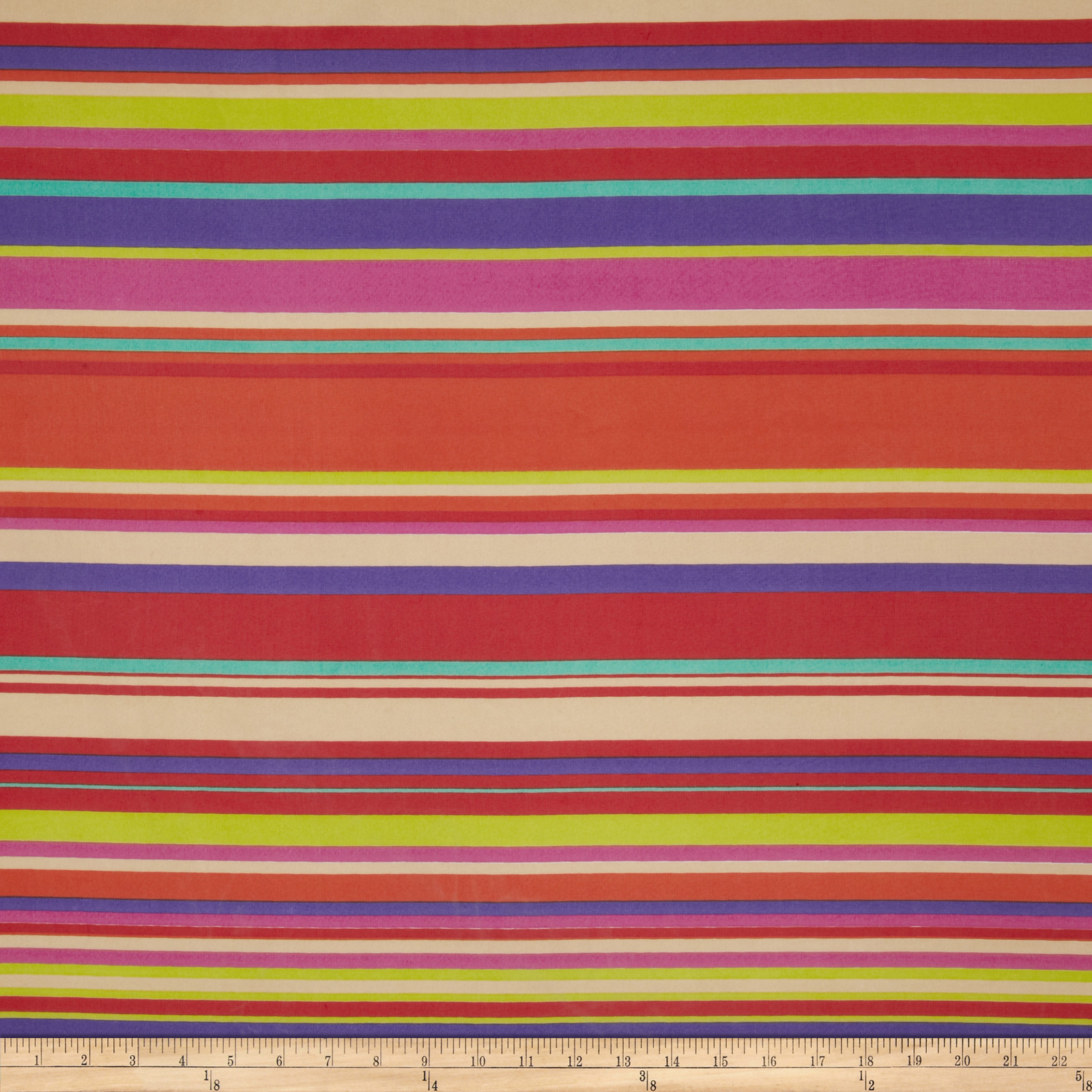 Chiffon Stripes Yellow/Fuchsia Fabric