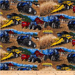 New Holland Tractors Allover Multi Fabric