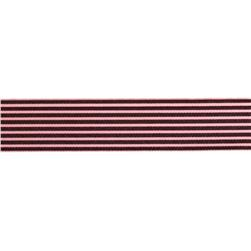 1.5'' Grosgrain Stripes Brown/Pink