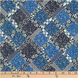 Kaufman Imperial Collection Metallic Trellis Indigo