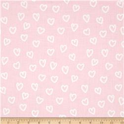 Kaufman Penned Pals Hearts Pink
