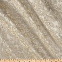 International Designer Floral Brocade Cream