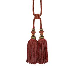 "Fabricut 31"" Bigelow Double Tassel Tieback Copper"