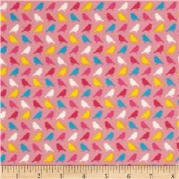 Irving Street Flannel Birds Pink