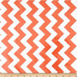 Riley Blake Laminated Cotton Medium Chevron Orange