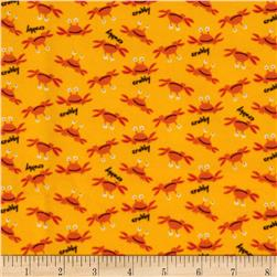 Beach Flannel Tossed Crabs Bay Yellow
