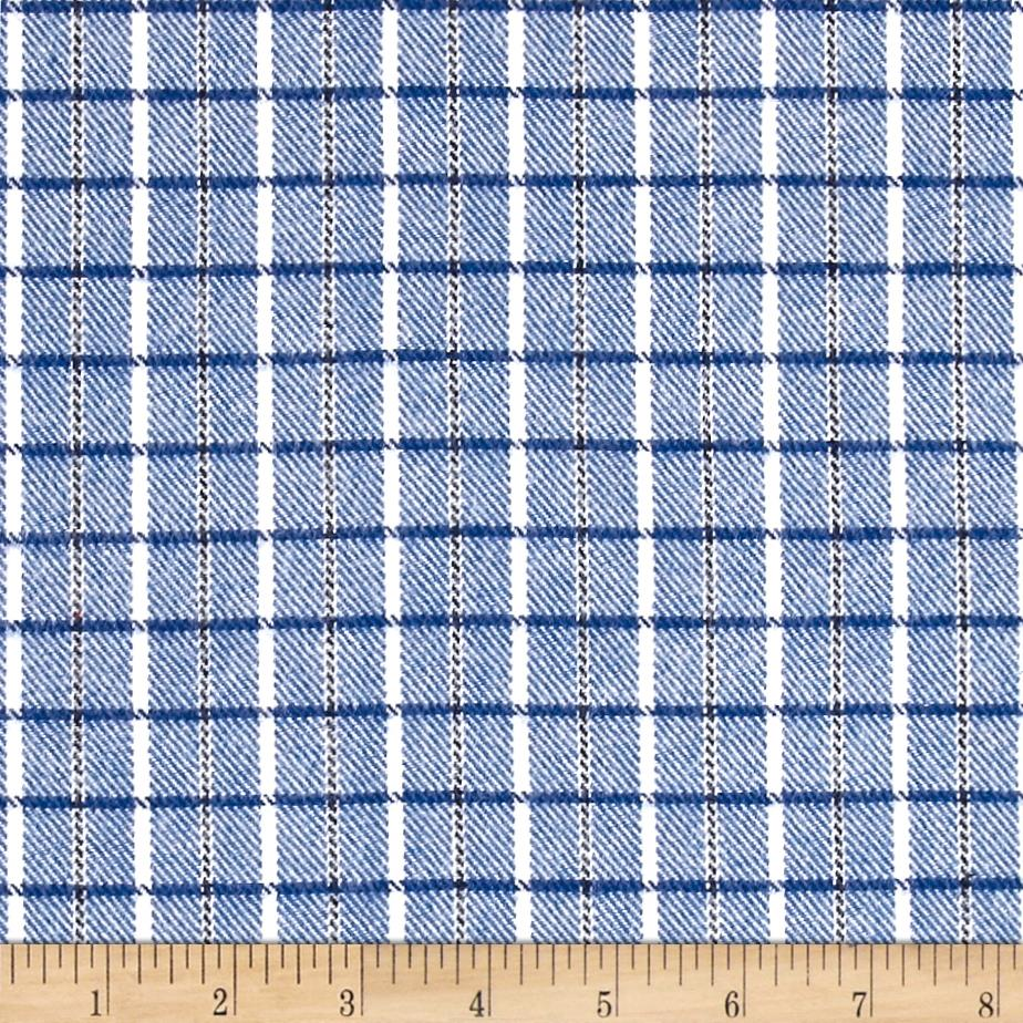 Marcus Primo Plaids Color Crush Flannel Small Plaid Blue