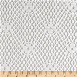 Geometric Crochet Lace Diamond White