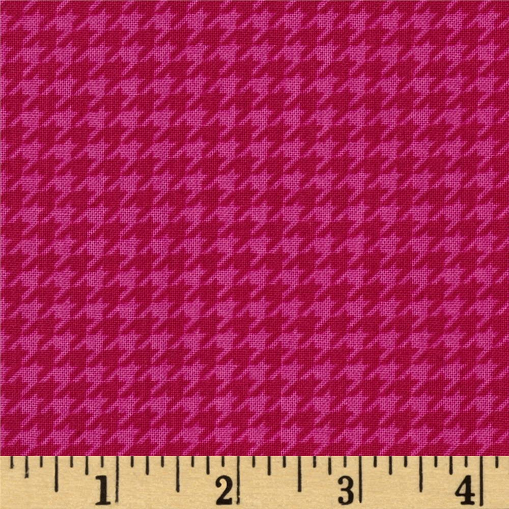 Timeless Treasures Lauren Houndstooth Pink