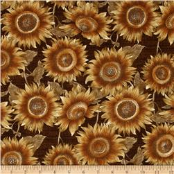 Sunflower Journal Sunflower Field Brown Fabric