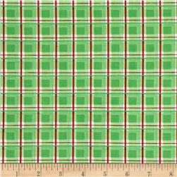 Modern Christmas Plaid Green
