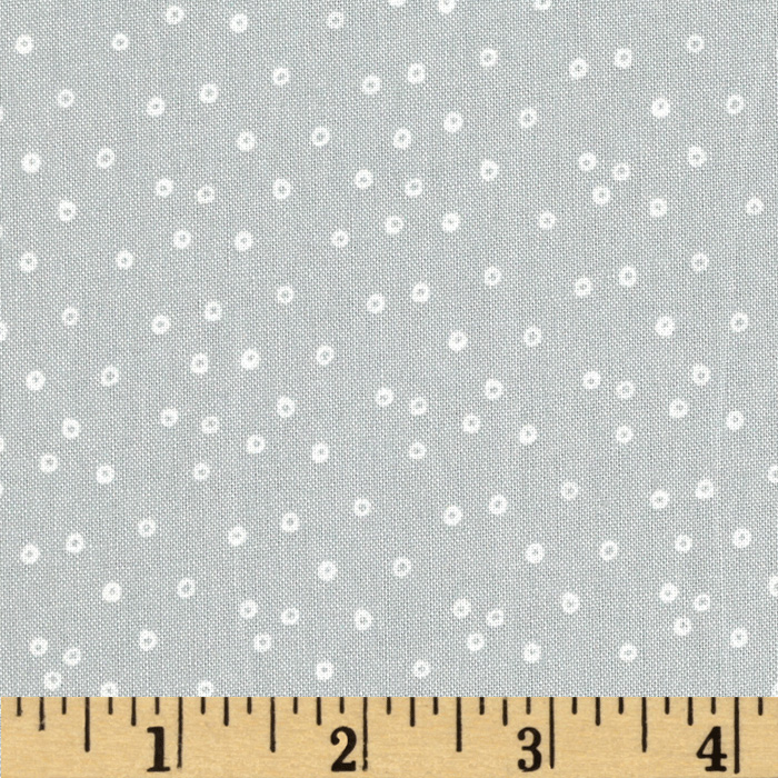 Swim Team Dots Grey/White Fabric