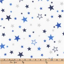 Kaufman Cozy Cotton Flannel Stars Royal