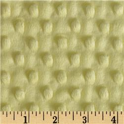 Minky Cuddle Dimple Dot Yellow Fabric