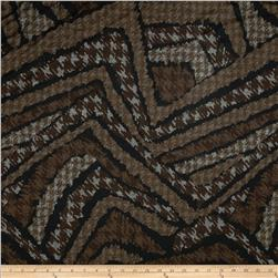 Serena Stretch Jersey Knit Abstract Stipe Brown