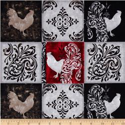 Bonjour Roosters Patches Gray