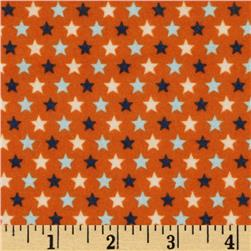 Riley Blake Rocket Age Flannel Stars Orange Fabric