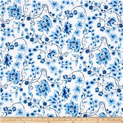 Sweet Tea Focal Floral Delft
