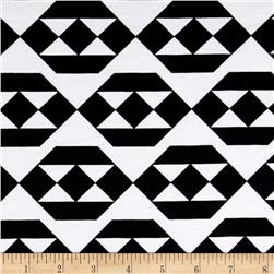 Ponte de Roma Triangle Diamonds Black/White