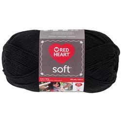 Red Heart Soft Yarn (4614) Black
