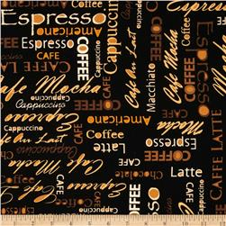 Kanvas Cafe Au Lait Cafe Expressions Black Fabric