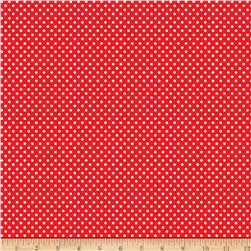 Kanvas Green Farms On the Dot Red/White Fabric