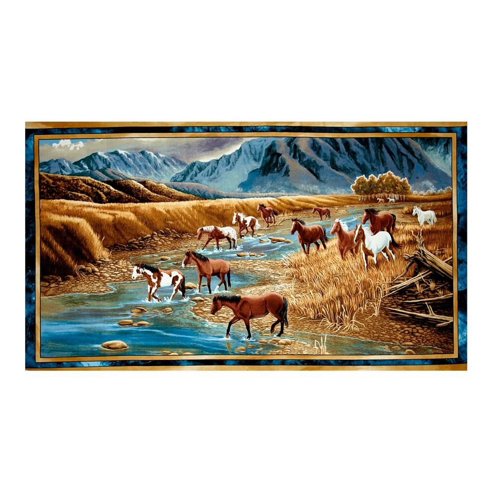 "Sundance Mountain Horse 23.5"" Panel Multi"