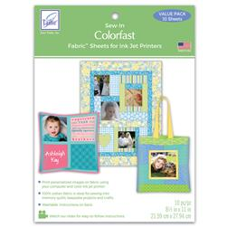 June Tailor Colorfast Fabric Sheets 10-Pack