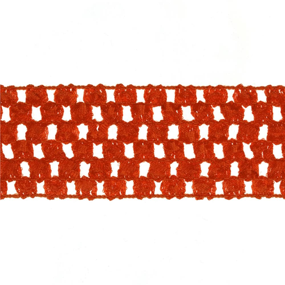 "1 3/4"" Crochet Headband Trim Orange"