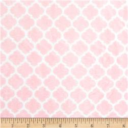 Shannon Minky Cuddle Romance Lattice Blush