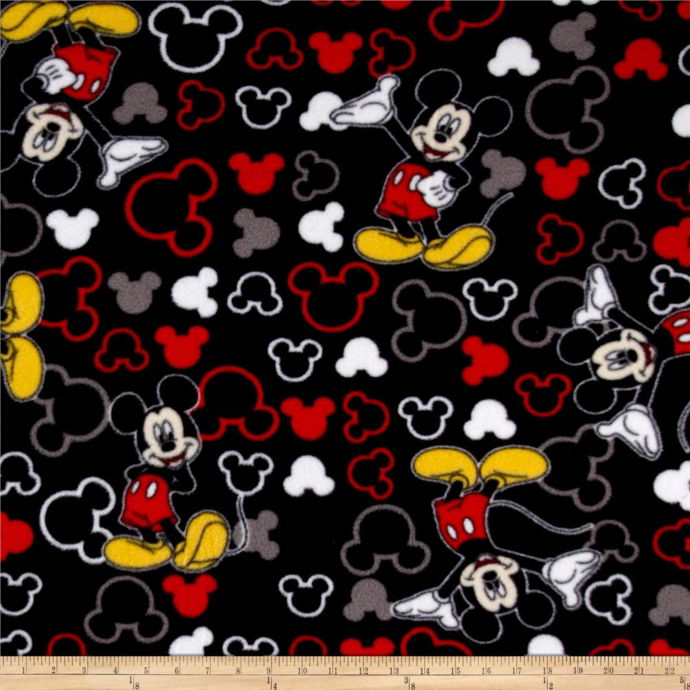 Disney Mickey Fleece Mickey and Icons Toss Black
